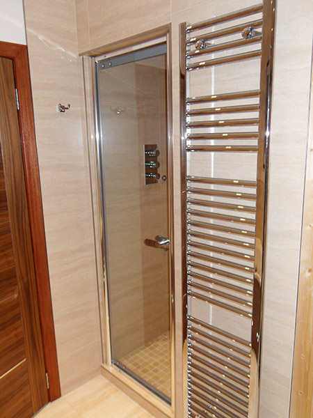 1800mm x 400mm chrome towel rail